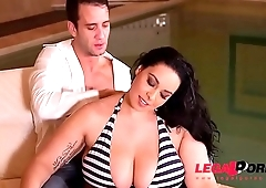 Anastasia Lux gets her gigantic mega titties fucked real hard by the pool GP324