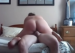 Riding dick while showing feet