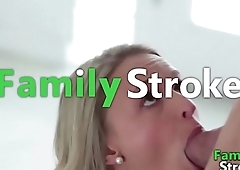 Silently Sucking Step Daddy'_s Gun - FamilySTROKE.net