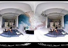 Amateur teens teasing and showing their hot naked bodies in this VR clip