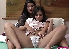 Horny stepmom licks her stepdaughter