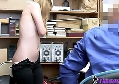 Rosalyn is stripped down and banged hard by horny officer