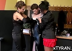 Nasty mistress humiliates serf in some femdom fetish action