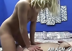 Home clip scene with woman facesitting man in kinky modes