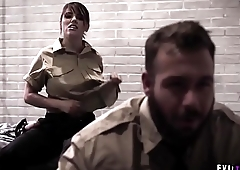 Come and see this poor teen prisoner harassed and fucked by two evil correction officers.