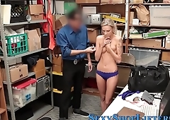 Amateur thief spunked on