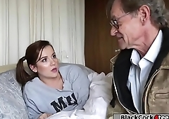 Petite babe banged by bbc for the debt