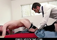 Twink Schoolboy Stepson Fucked By Stepdad Before Meeting With Teacher