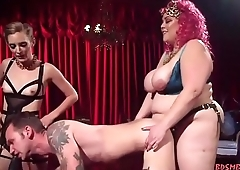 Two Horny Babes Fuck Their Slave Hard