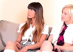 After School Studies - Extremely Hot Teen Threesome