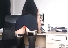 Angie Glampanties roleplaying sexy teacher upskirt and showing sexy red panties