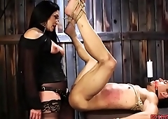 Sexy Mistress Pegging Her Slave Boy