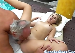 18yo beauty plowed by a the dirty senior