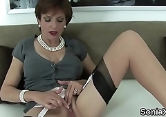 Cheating british milf lady sonia pops out her massive boobies