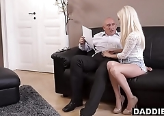 Stunning Hungarian Babe Fucks Her Boyfriend'_s Experienced Dad