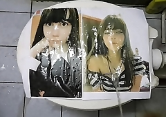 pissing on printed pic #3