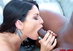 Kissa Sins anal fuck by Prince Yahshuas big black monster cock!