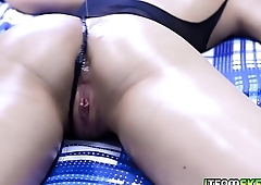 Rob Carpenter spread eagle fuck Paige Owens stretched moist pussy!