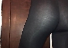 See through leggings ass