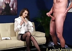 Femdomina rubbing herself