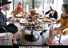 Hot MILF Step Mom Brooklyn Chase And Step Son Join Teen Step Daughter Rosalyn Sphinx And Step Dad For Family Thanksgiving Fuck Fest