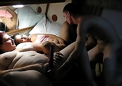 Husband destroyed slutty wife and her shy friend...hardcore anal...rough throat fuck...hard orgasm