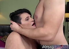 Cock sucking gilf facial